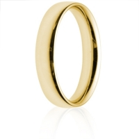 4mm Medium Weight Gold Court Wedding Ring
