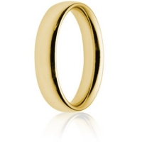 5mm Heavy Weight Gold Court Wedding Ring