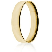 5mm Light Weight Gold Court Wedding Ring