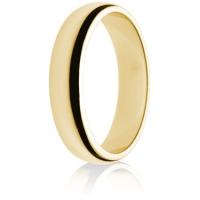 5mm Medium Weight Gold D-Shape Wedding Ring
