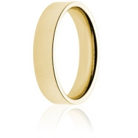 5mm Medium Weight Gold Flat Court Wedding Ring
