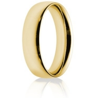 6mm Heavy Weight Gold Court Wedding Ring