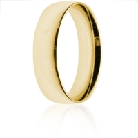 6mm Medium Weight Gold Court Wedding Ring