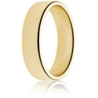 6mm Medium Weight Gold Double Comfort Wedding Ring