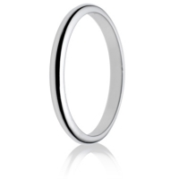 2mm Light Weight D-Shape Wedding Ring