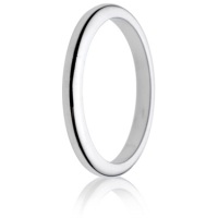 2mm Medium Weight D-Shape Wedding Ring