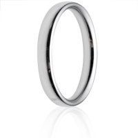 3mm Medium Weight Court Wedding Ring