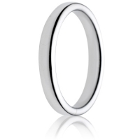 3mm Medium Weight Double Comfort Wedding Ring