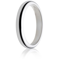 3mm Medium Weight D-Shape Wedding Ring