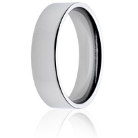 6mm Medium Weight Flat Court Wedding Ring