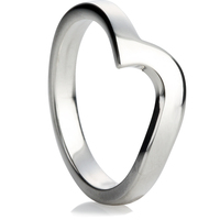 2.5mm Shaped Wedding Ring