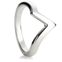 V-Shaped Wedding Ring
