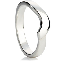 Curve Shaped Wedding Ring