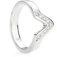 Diamond Set Shaped Wedding Ring