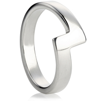 Shaped Wedding Ring with a Zig Zag Design