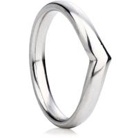 Wishbone wedding ring