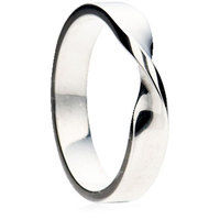 Twist flat profile shaped to fit wedding ring.