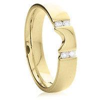 18k yellow gold diamond wedding ring