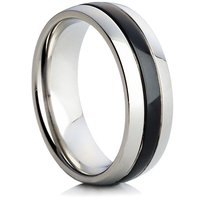 Steel Wedding Ring with IP Plating