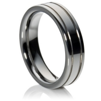 Two channel flat comfort fit tungsten carbide