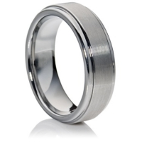 Flat comfort fit tungsten carbide with matte finish