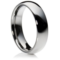 Comfort fit profile tungsten carbide ring
