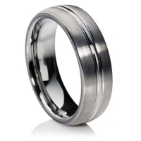 Double Comfort Tungsten Carbide Ring