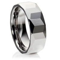 Facet cut comfort fit profile tungsten carbide
