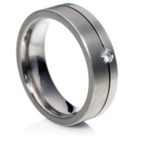 Titanium and Platinum Ring