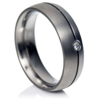 Platinum and Titanium ring