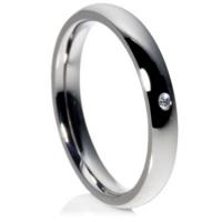 Diamond Set Titanium Ring