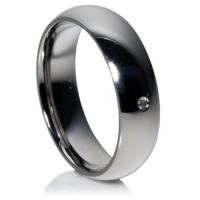 Diamond Titanium Ring