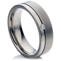 Titanium Double-Finish Ring