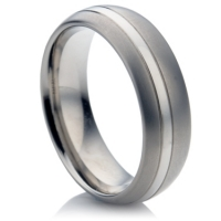 Two Tone Titanium Ring