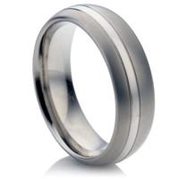 Two Tone Titanium Ring