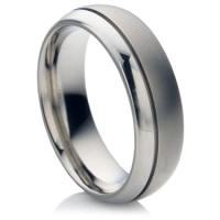 Titanium Ring with Double Finish