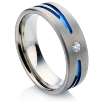 Cool Titanium Diamond Ring