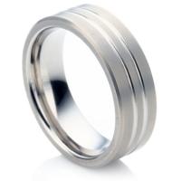 Titanium Groove Ring