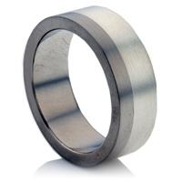 Titanium and Silver Wedding Ring