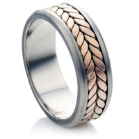 Decorative Multi Metal Wedding Ring.
