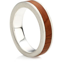 Rustic Ring for Men with Wooden In-Lay