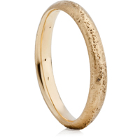 Yellow Gold Sandcast Wedding Ring