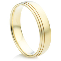 Yellow Gold Court Shape Wedding Ring