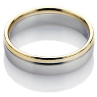 a two metal wedding ring
