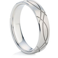Men's Wedding Ring in White Gold