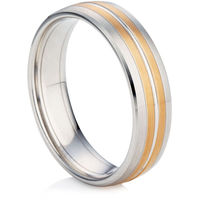 Rose and White Gold Wedding Ring