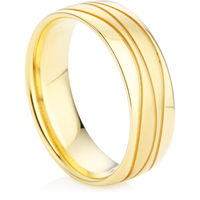 Men's Wedding Ring in Yellow Gold