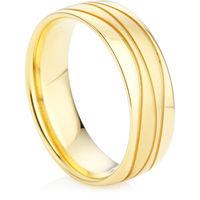 Men's Wedding Ring in Yellow Gold