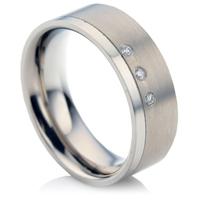 Titanium Diamond Wedding Ring
