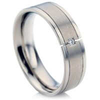Titanium Diamond Wedding Ring